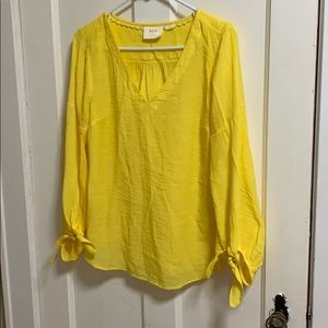 Tie sleeve blouse by Maeve from Anthropologie